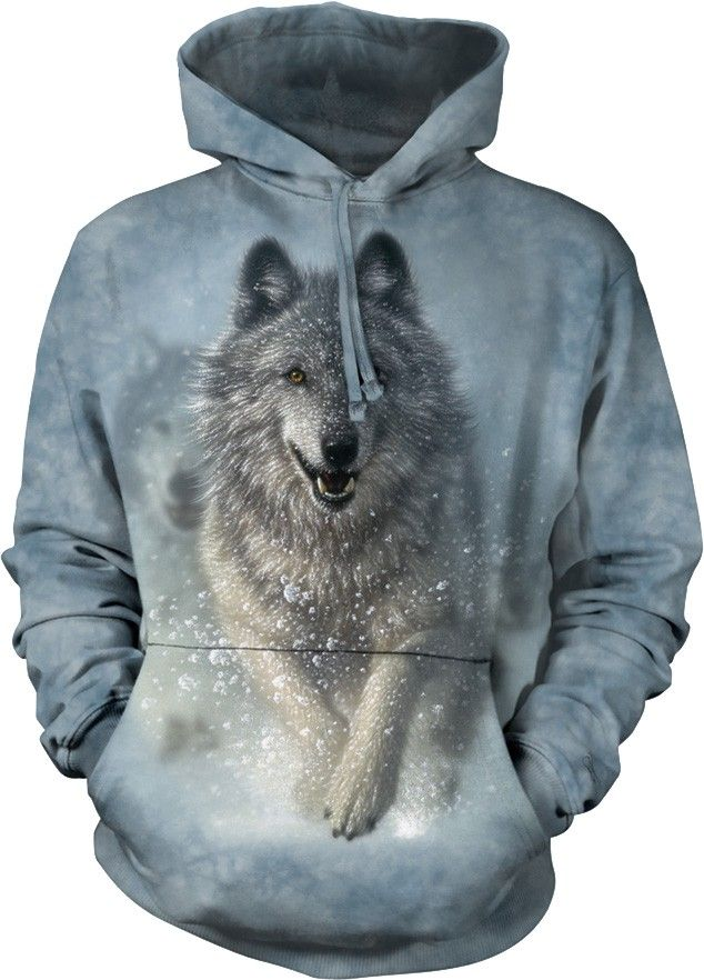 533bbe6f9 Snow Plow Hoodie The Mountain | wolf clothes | Ropa, Sudaderas con ...