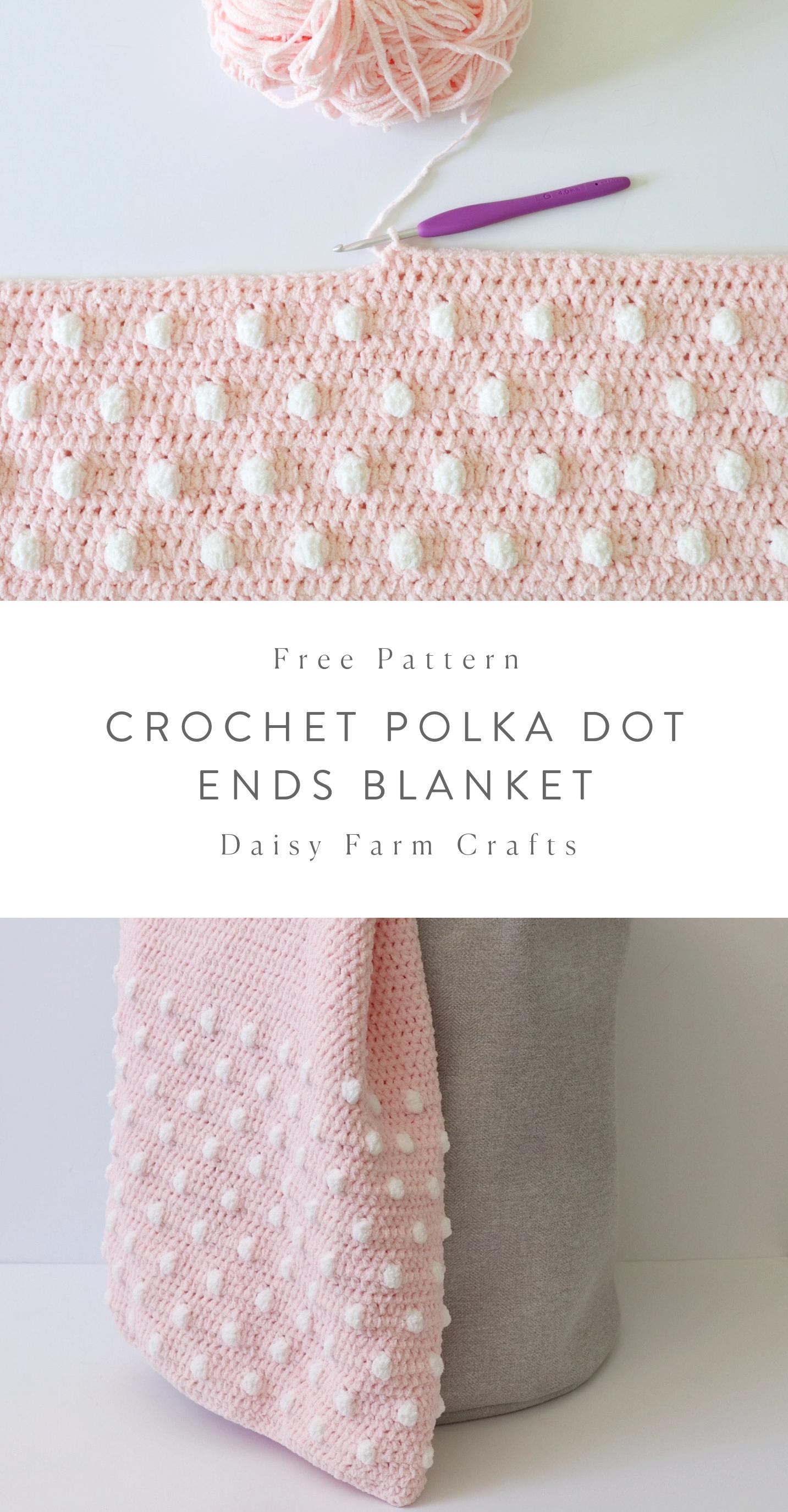 Free Pattern - Crochet Polka Dot Ends Blanket
