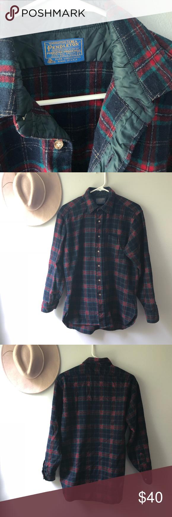 Flannel shirt vintage  Vintage Pendleton flannel shirt  My Posh Closet  Pinterest