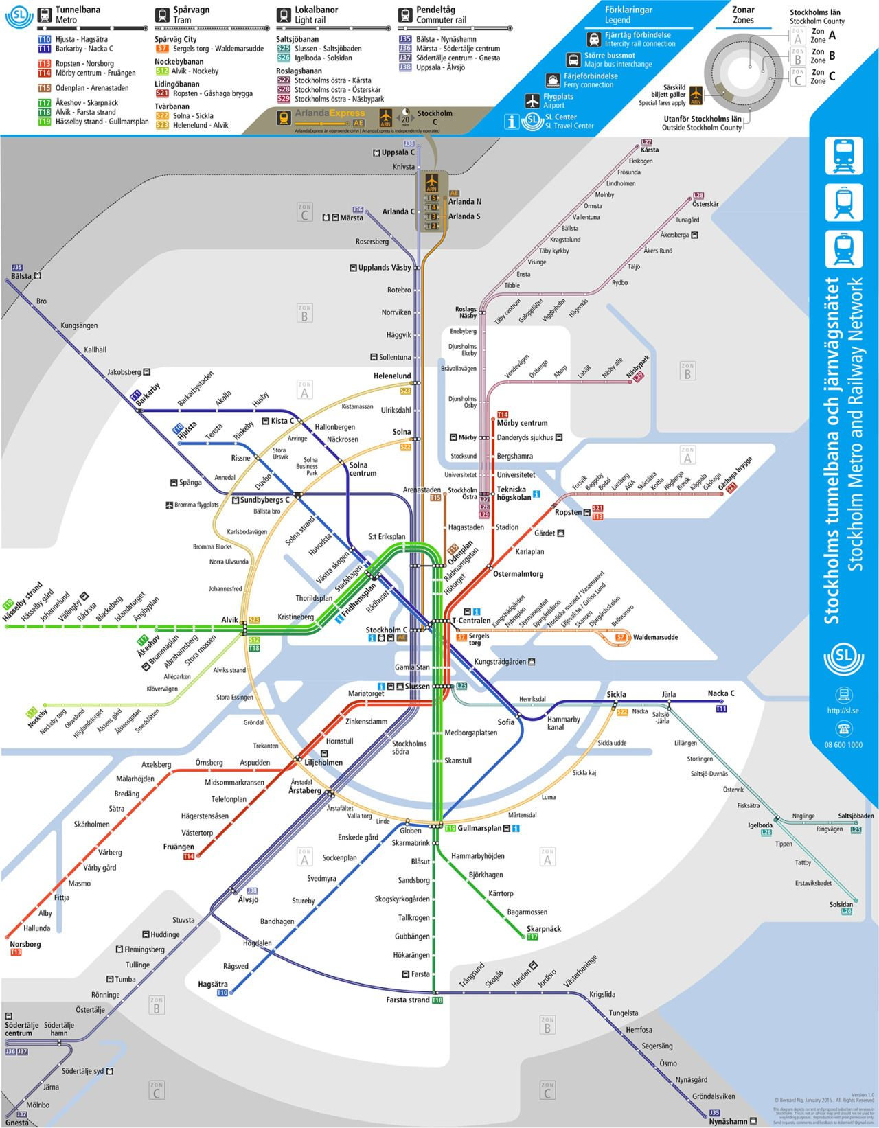 Unofficial Future Rail Map of Stockholm by Bernie Ng Transit