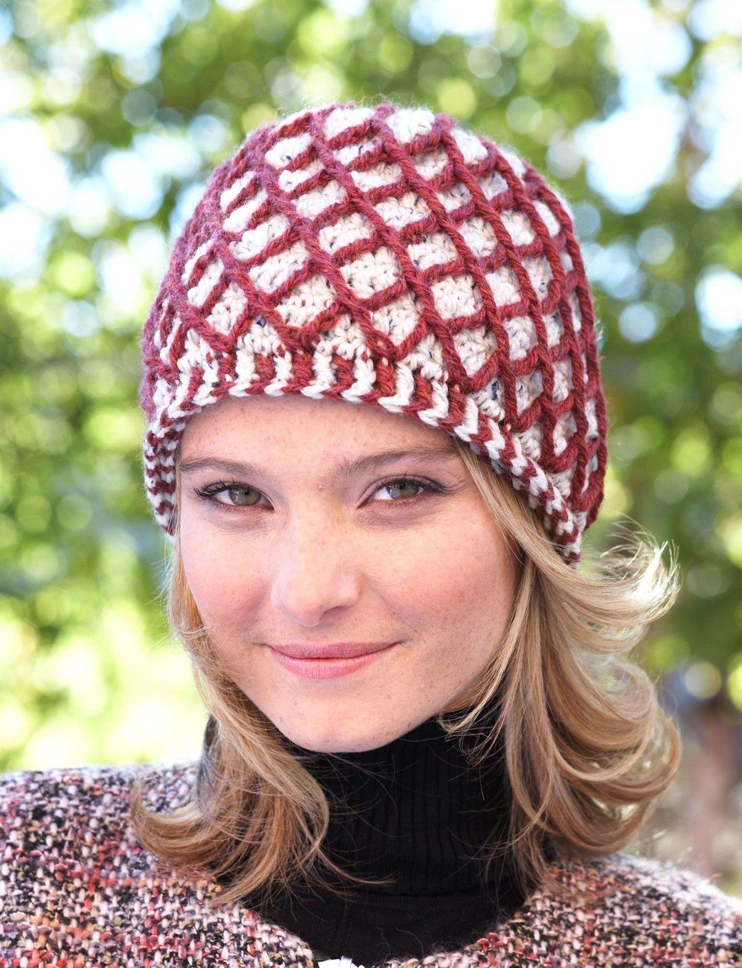 Yarnspirations.com - Patons Lattice Hat | Yarnspirations | Craft ...