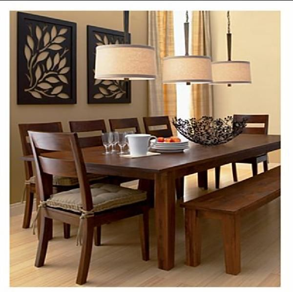 Dining Room Table With Chairs And Bench: Dining Room, Crate And Barrel, Crate And