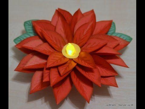Janb Hybrid Poinsettia Janb Uk Stampin Up Demonstrator Independent Flower Cards Tea Light Crafts Christmas Crafts