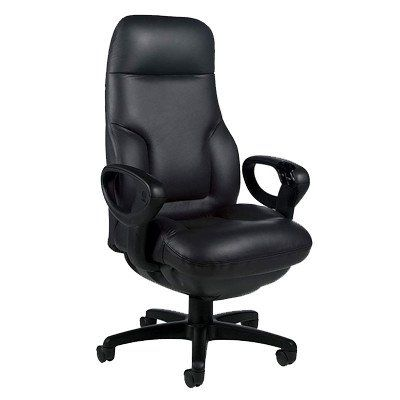 Concorde High Back Leather Executive Chair Leather Color Dark
