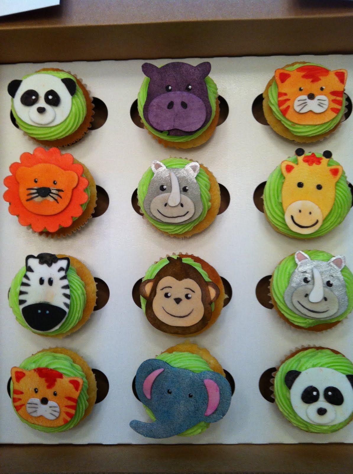 Cupcakes animal decorating ideas photo