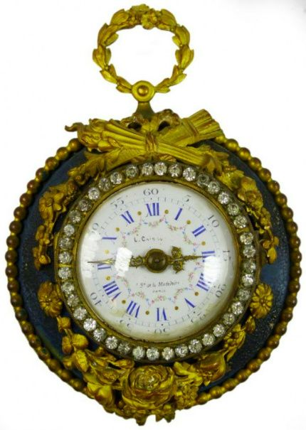 A vintage French enamel clock WATCH you lookin\u0027 at some