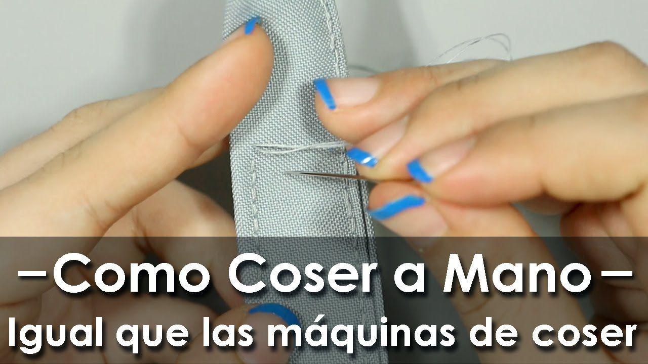 Como coser a mano como máquina de coser (con imágenes
