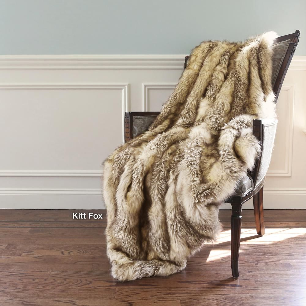"""60/"""" 72/"""" 84/"""" White Channel Mink Faux Fur Bed Sofa Couch Throws Comforters Blanket"""