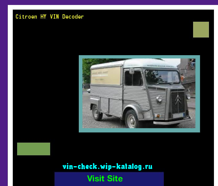 Citroen Hy Vin Decoder Lookup Citroen Hy Vin Number 220320