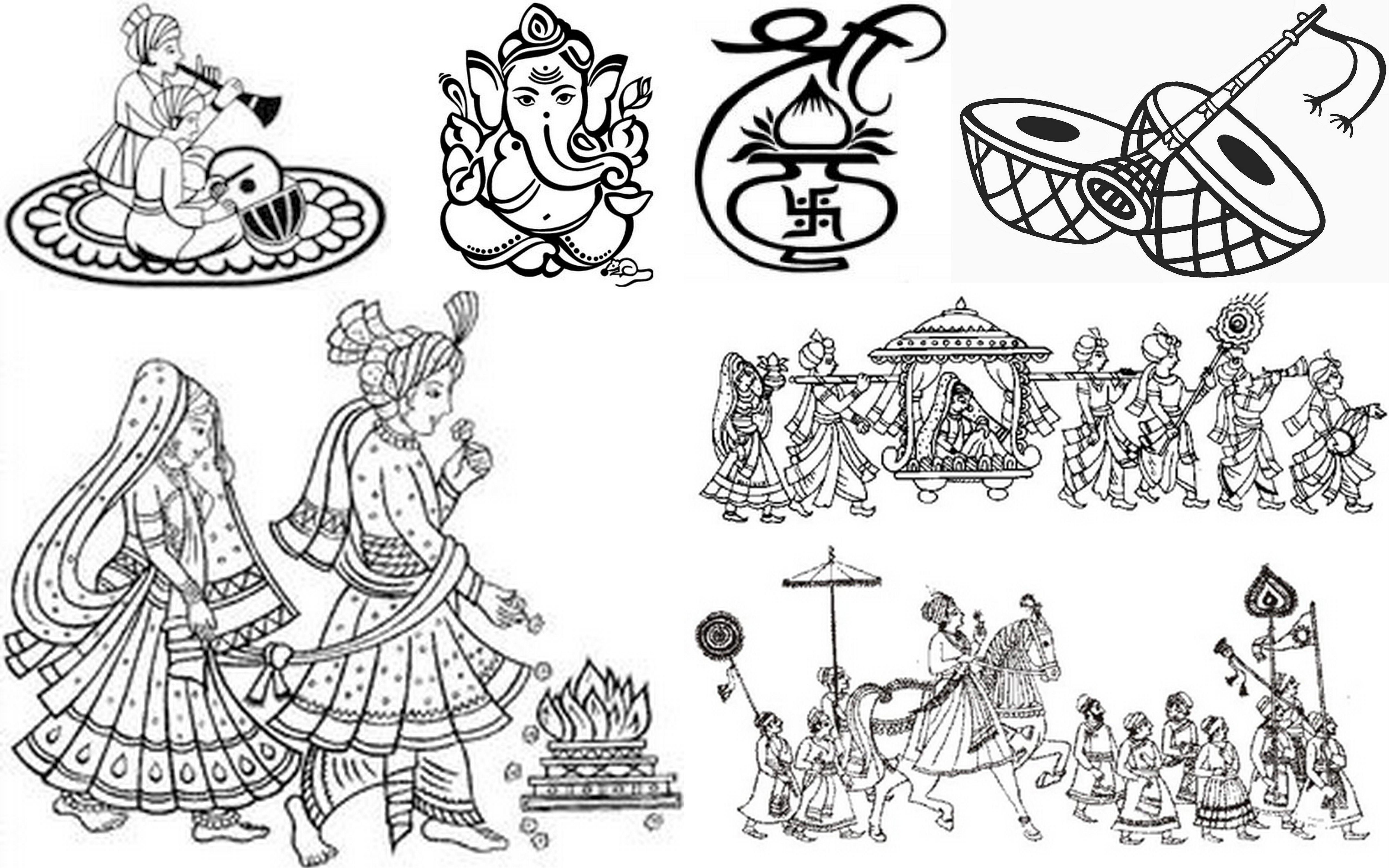 indian wedding doli clipart images 7 Wedding symbols