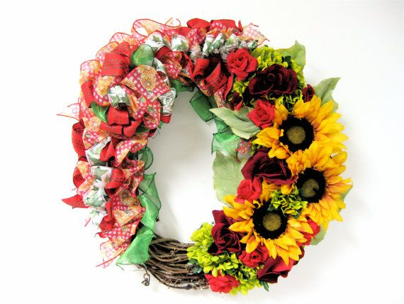 Sandy Newhart Designs Beautiful Floral Wreaths!