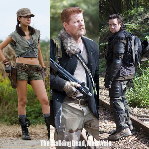 Rosita Abraham And Eugene The Walking Dead Twd S4 Timee