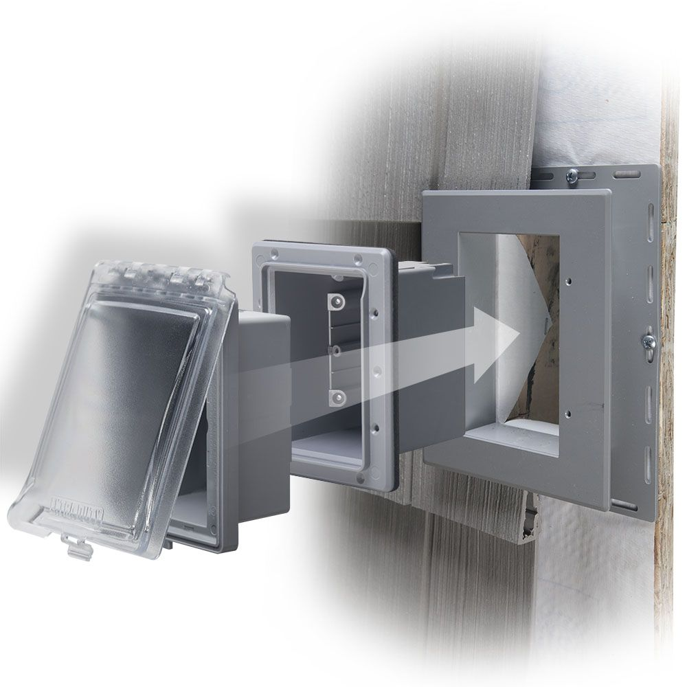 When Your Outdoor Receptacle And Cover Need To Be Recessed Check Out Our Taymac Mr420 Weatherproof Inuse Pr Covered Boxes Siding Materials Weatherproofing