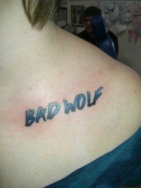 c918df98b My bad wolf tattoo Bad Wolf Tattoo, Wolf Tattoos, I Am Bad, Doctor