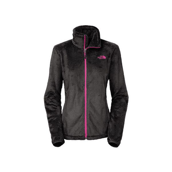 The North Face Osito 2 Jacket Outerwear ($99) ❤ liked on Polyvore featuring outerwear, jackets, asphalt grey, women's, zip front jacket, cinch jackets, zip front fleece jacket, urban jackets and zipper jacket