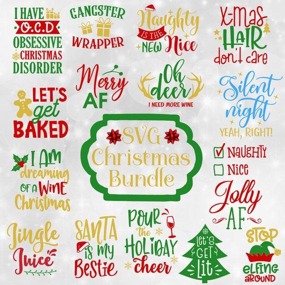 Christmas Svg Bundle Funny Christmas Quotes Svg Christmas Etsy Christmas Svg Christmas Svg Files Christmas Humor