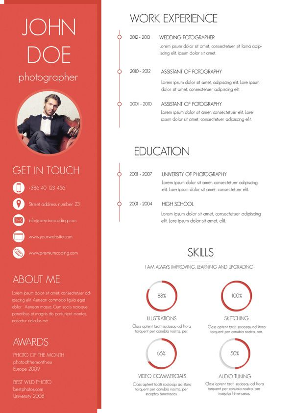 A Minimal and Clean Resume 简历 Pinterest Minimal, Resume - interesting resume templates