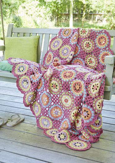 Gratisanleitung: Wunderschöne Decke aus runden Grannymotiven Für das ...