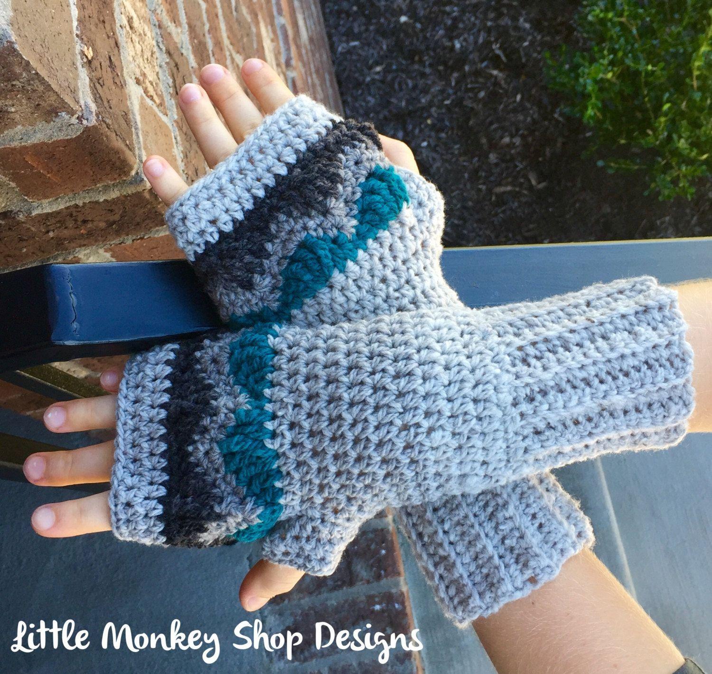 New to LittleMonkeyShop on Etsy: Fingerless Gloves Crochet Wool ...