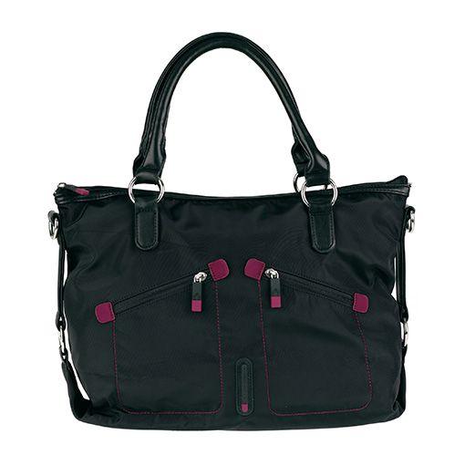 f719689ac38 Bolso shopping grande de Nylon con dos bolsillos exteriores