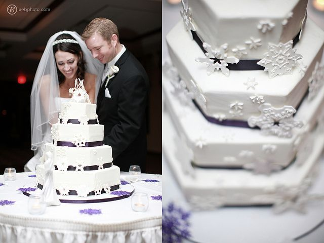 What a great Winterwedding Cake.