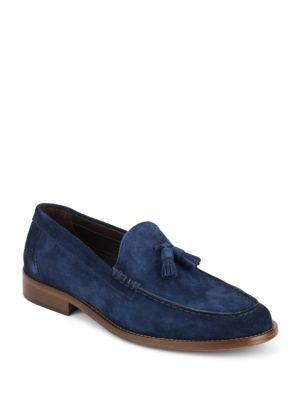 BRUNO MAGLI Keaton Suede Tasseled Loafers. #brunomagli #shoes #flats