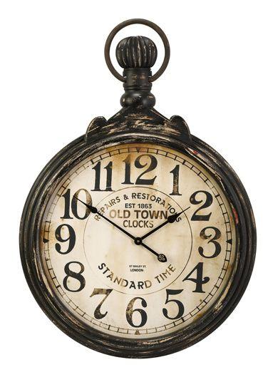 Cc Home Furnishings Old Fashioned Antique Oversized Pocket Watch Wall Clock 39 Clocks Clock Old Clocks Wall Clock