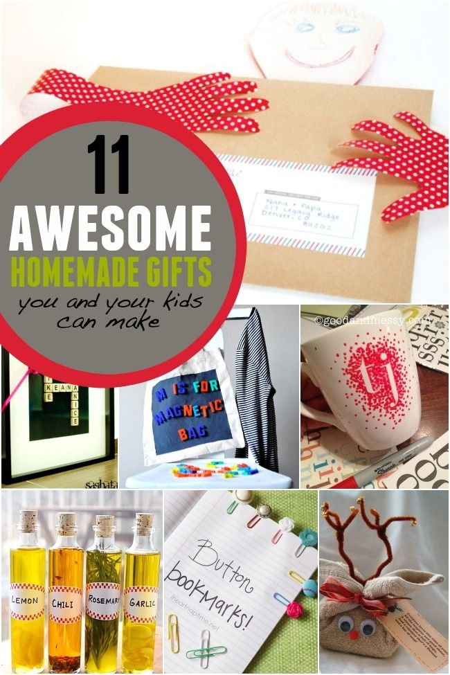 11 Awesome Homemade Gifts You and Your Kids can Make | DIY Recipes ...