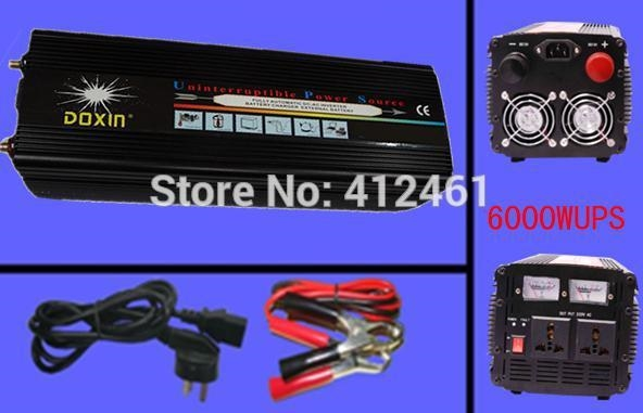 589.51$  Watch here - http://ali1px.worldwells.pw/go.php?t=32273674968 - Real 6000 Watt Doxin Auto Power Inverter 6000W / 12000 Watt (Peak) ,12V 220V Inverter Car Power Charger With UPS System DHL Free