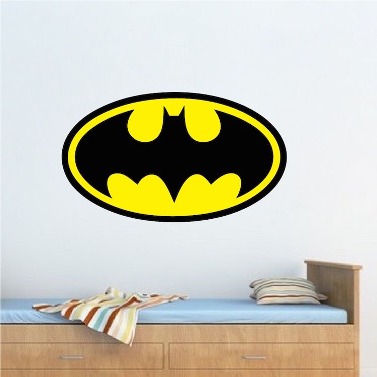 Batman Logo Wall Decal Batman Wall Decal Hero Boys Bedroom Wallpaper Mural Sticker Superhero Wall Desi Superhero Wall Decals Superhero Wall Art Logo Wall