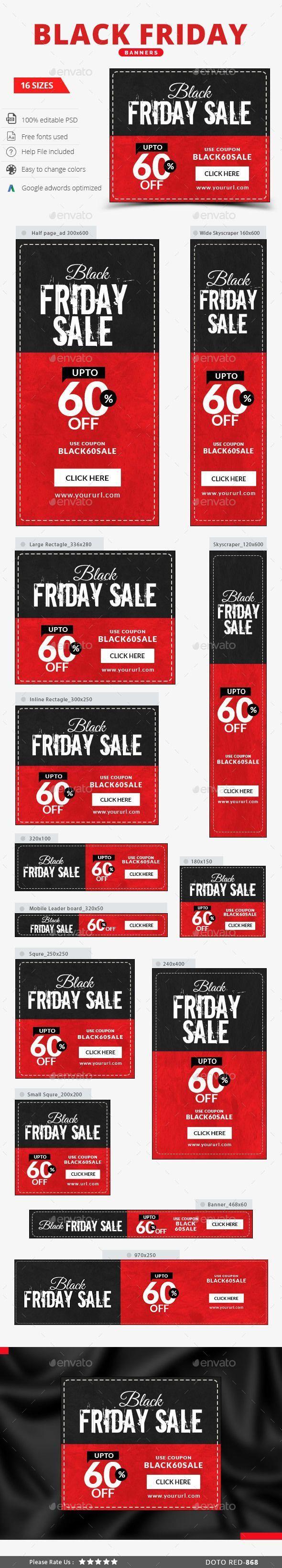 Black Friday Web Banner Vorlage Psd Design Ads Download Graphicriver Net Black Friday Banner Web Banner Black Friday Web