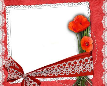 red frames png lacy frame with red flower png frame