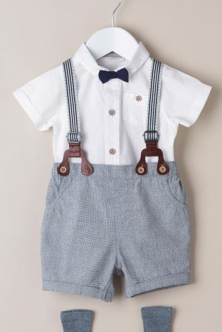 3c0a4a422a35 Buy Grey Shorts And Braces Set (0mths-2yrs) online today at Next ...