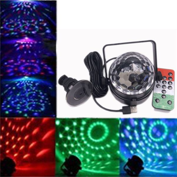 10W USB Voice Control remoto Magia Rotating LED Stage Light Gala ...