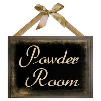 Cute Powder Room Sign For Bathroom, Toliet,