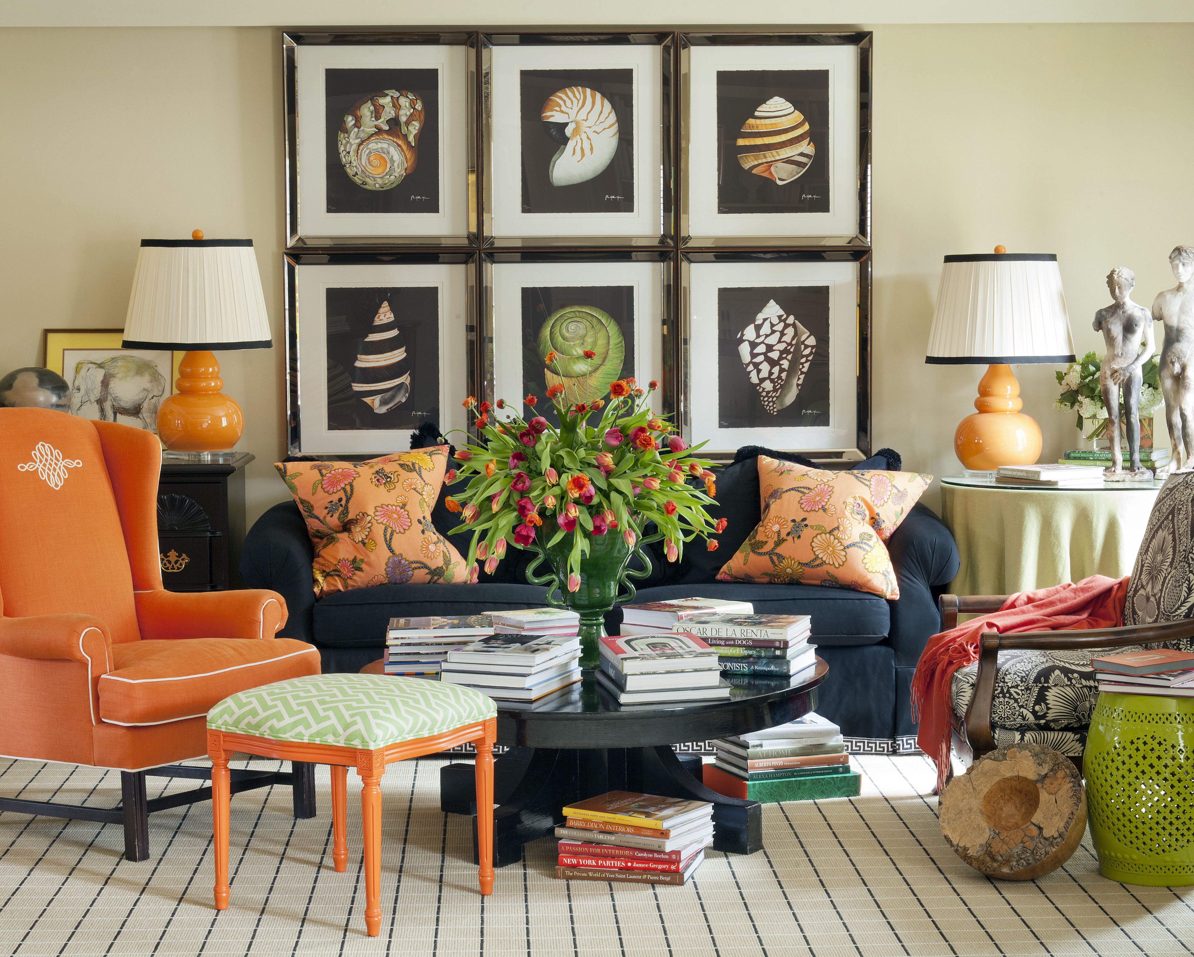 Interior home decorating ideas living room tobi fairley opens up her traditional little rock residence and