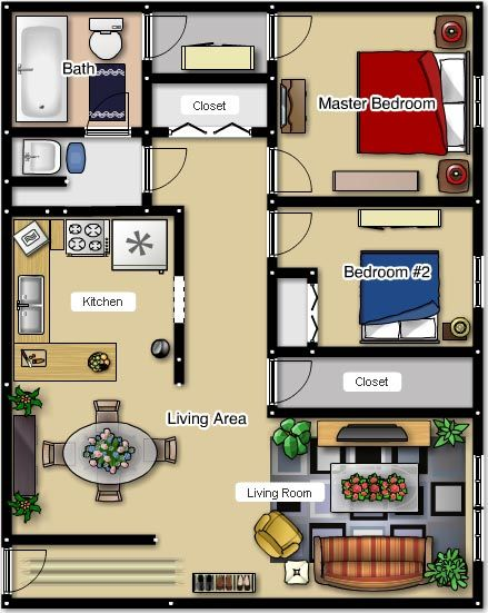 Two Bedroom Floor Plans Cherry Hill Towers Luxury Apartment
