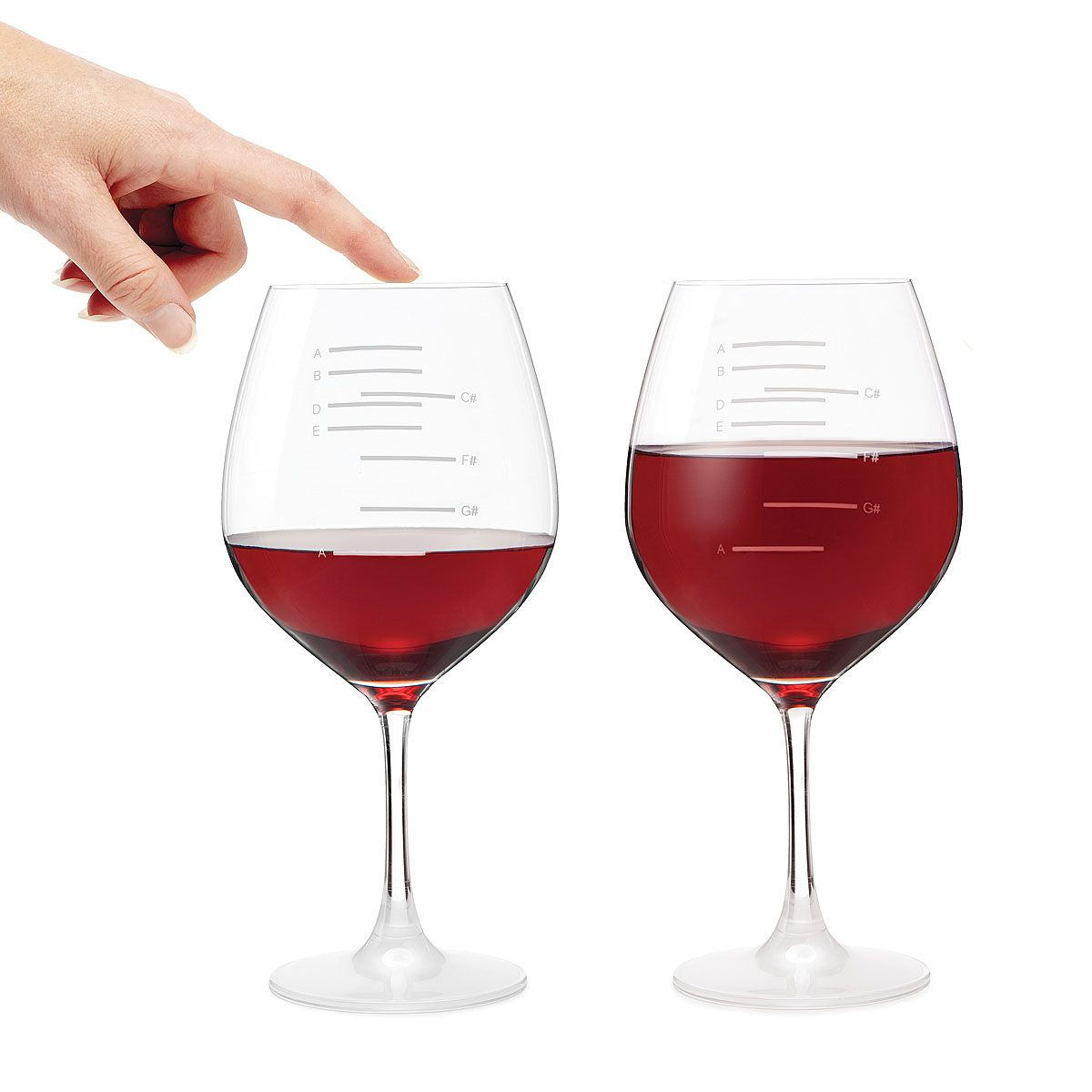 Major Scale Musical Wine Glasses Set Of 2 Etched Red Wine Glasses Music Tune Uncommongood Gifts For Wine Lovers Red Wine Glasses Unique Christmas Gifts