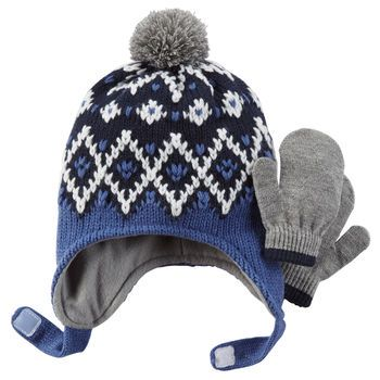 Carters | Fair Isle Hat & Mitten Set - 12-24M | If I Ever Have A ...