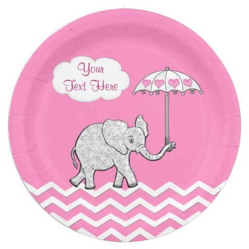 Personalized Pink and Gray Elephant Baby Shower Plates and Napkins. Elephant Baby Shower Paper Plates  sc 1 st  Pinterest & Personalized Pink Elephant Baby Shower Plates | Baby shower plates ...