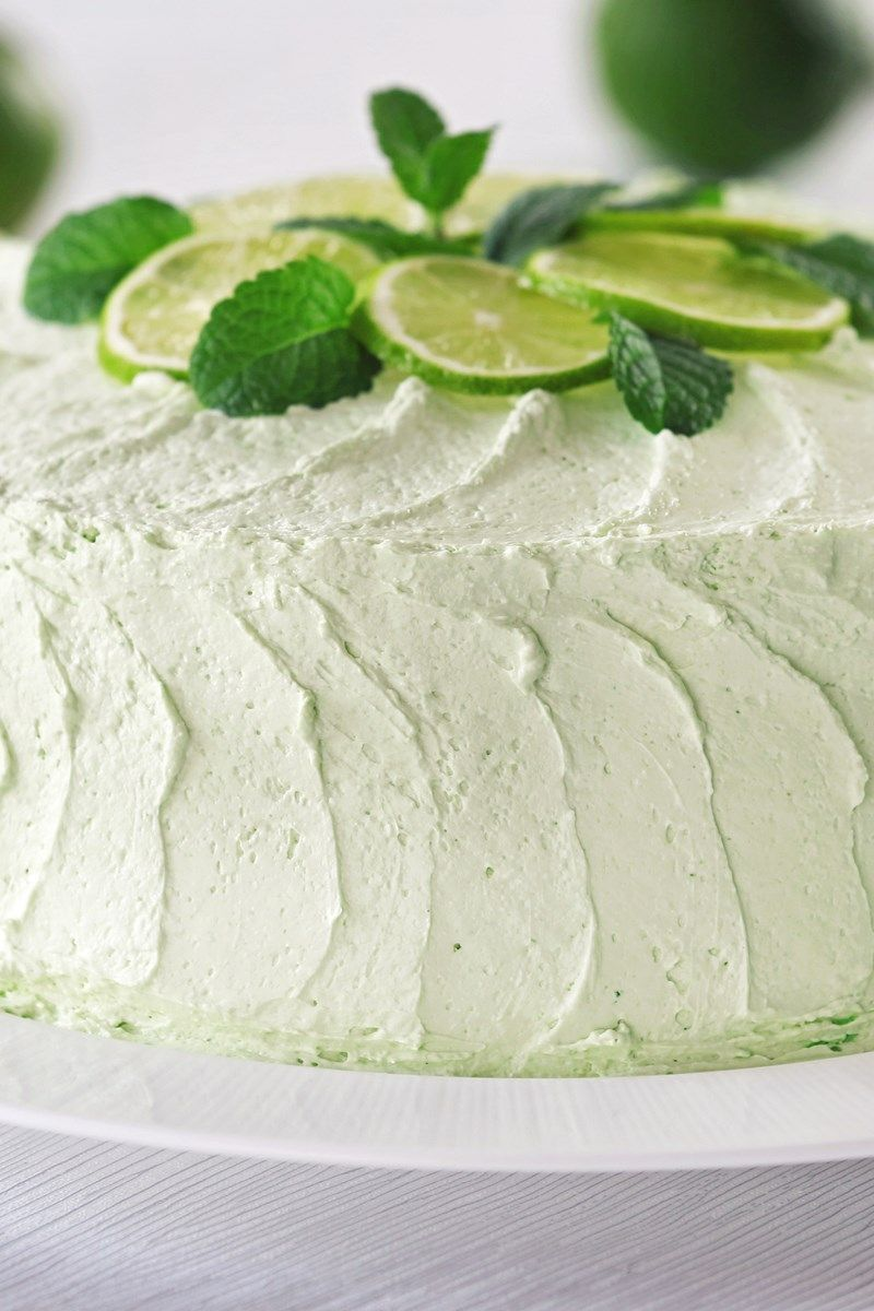 Key Lime Layer Cake With Cream Cheese Frosting Recipe Key Lime Layer Cake Lime Desserts Key