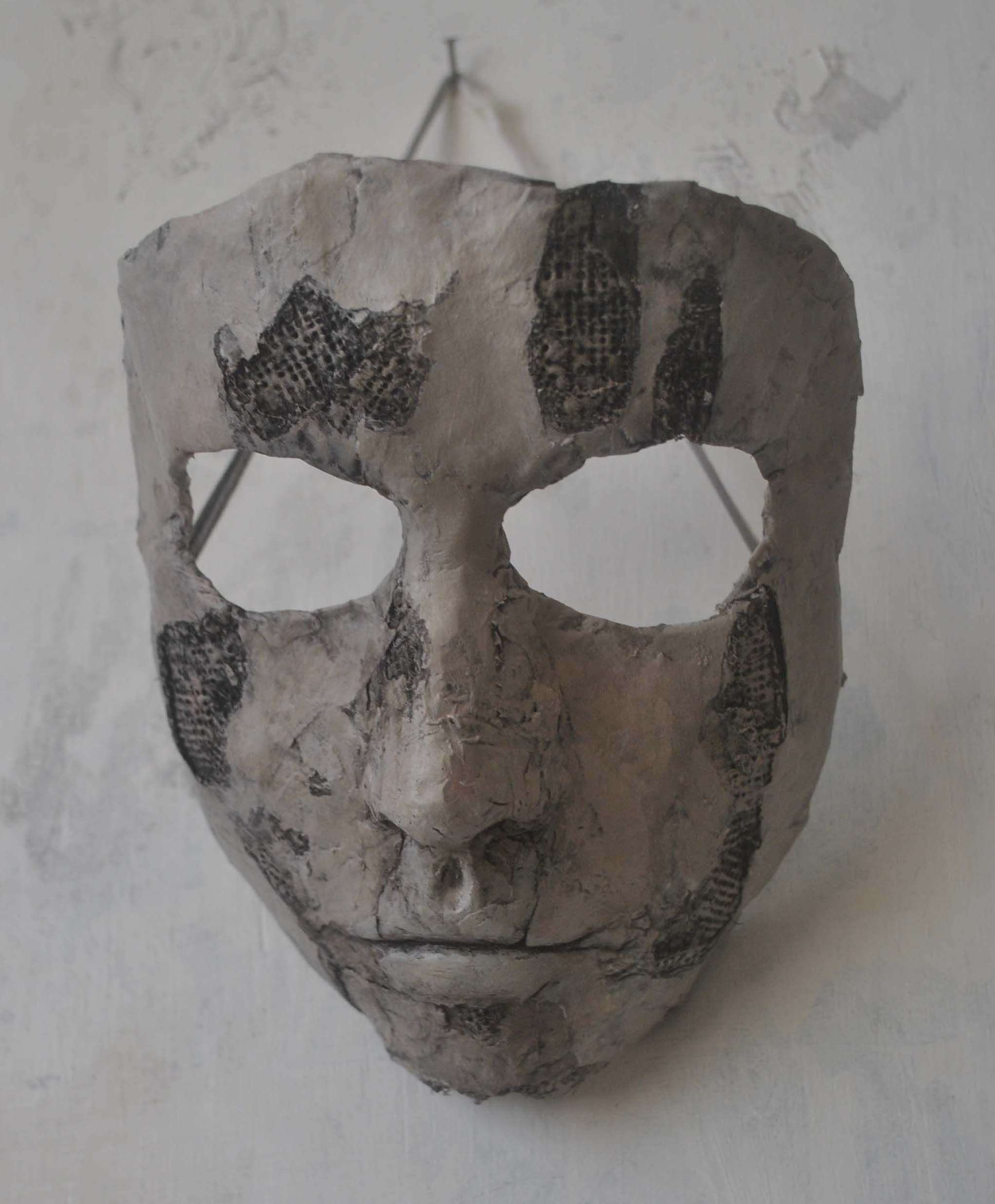 A Homemade Mask Inspired By Black Mold Spores Under Ling Wallpaper