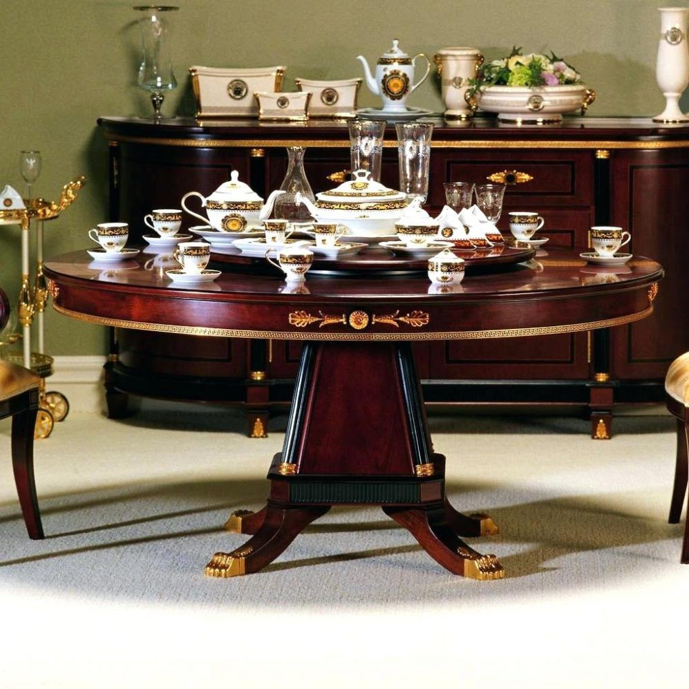 Round Dining Room Table For Bettrpiccom Ideas With Seats 8 ...