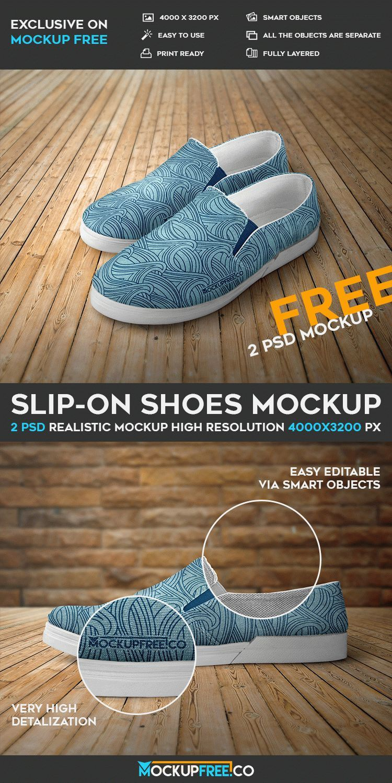 Download Slip On Shoes 2 Free Psd Mockups Download Mockup Free Psd Slip On Shoes Mockup Psd