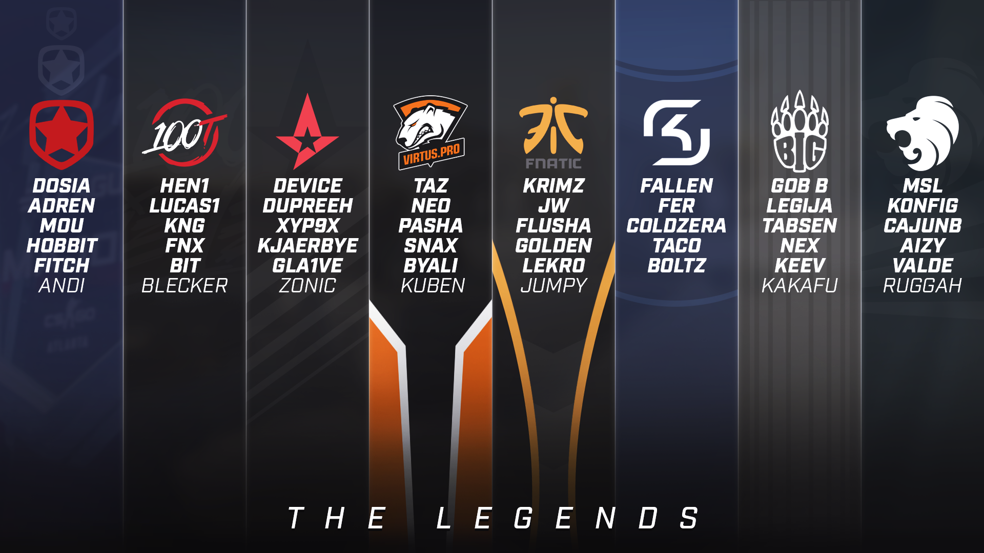 Wallpaper I made for The Legends going into the ELEAGUE
