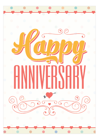 graphic regarding Printable Anniversary Cards identified as No cost Printable Anniversary Playing cards - Intimate, Lovable Well prepared