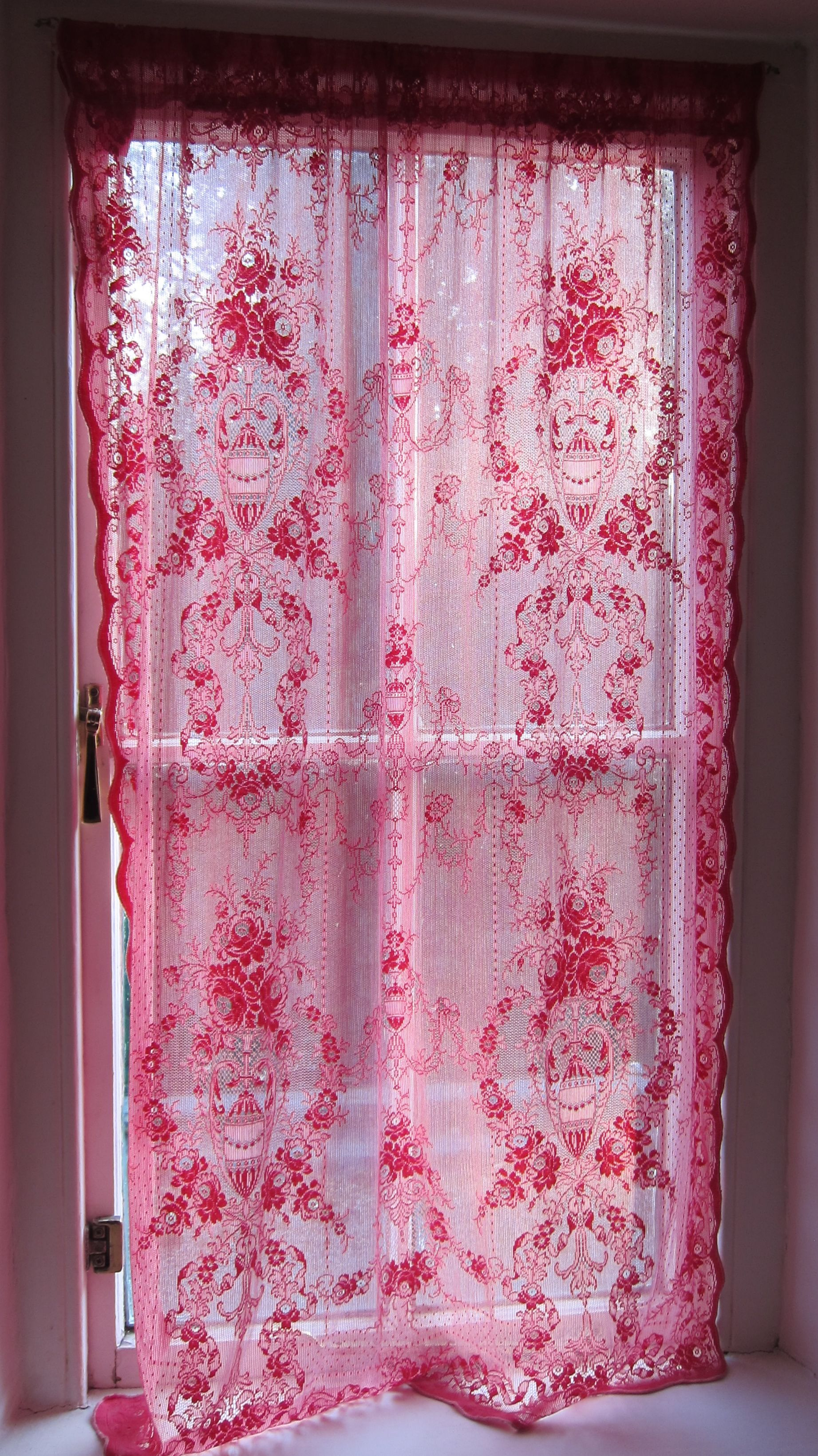 Pink Lace Curtain By Keet