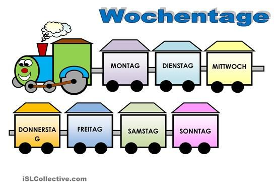 Wochentage | Német | Pinterest | Kindergarten, Education sites and ...