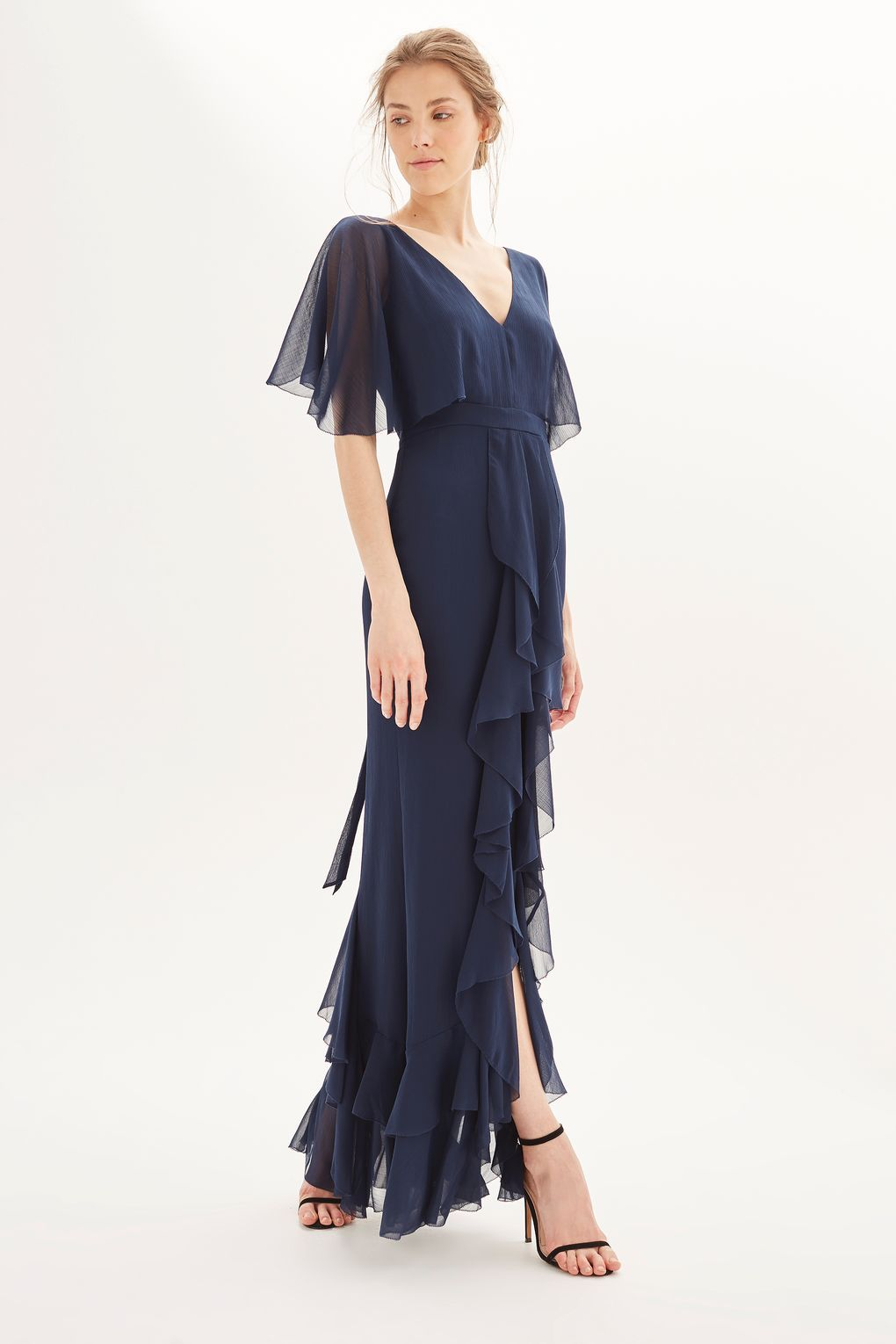 df5e5b84018   Angel Sleeve Ruffle Maxi Dress - Dresses - Clothing - Topshop
