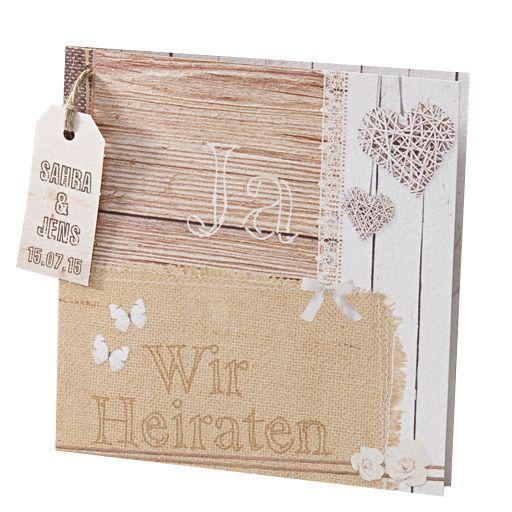#Rustikale #Einladungskarte zur #Hochzeit